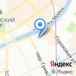 На Мойке на карте Санкт-Петербурга