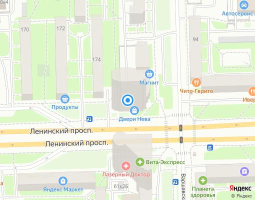 Товарищество собственников жилья «Варшавская, 59» на карте Санкт-Петербурга