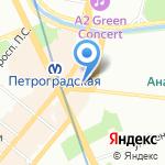 Камертон на карте Санкт-Петербурга