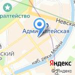 Нотариус Корецкая Е.Г. на карте Санкт-Петербурга