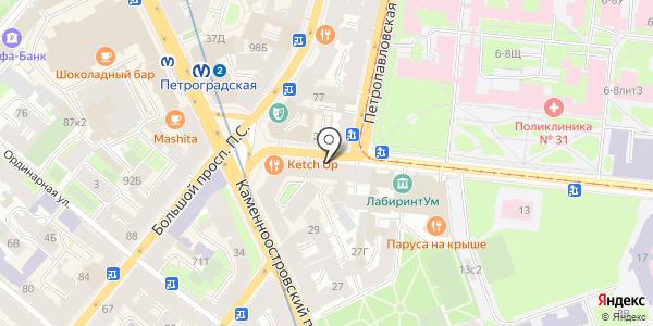Cup`n`cup. Схема проезда в Санкт-Петербурге