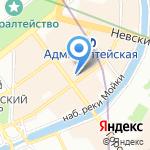 Международная школа Герценовского университета на карте Санкт-Петербурга