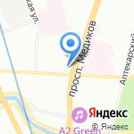 Центр помощи при заливах квартир и помещений на карте Санкт-Петербурга