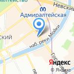 У Красного моста на карте Санкт-Петербурга