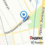 Кентаврик на карте Санкт-Петербурга