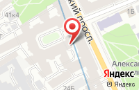Схема проезда до компании Ива в Санкт-Петербурге