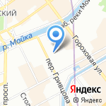 Центр Цигун на карте Санкт-Петербурга