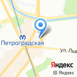ЛИДВАЛЬ-ХОЛЛ на карте Санкт-Петербурга