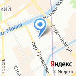 Домой на карте Санкт-Петербурга