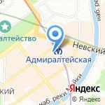 Стильное Серебро на карте Санкт-Петербурга