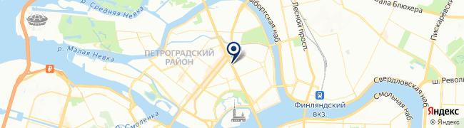 Расположение клиники MedClub на Каменноостровском