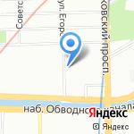 Измайловский на карте Санкт-Петербурга