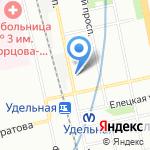 Лужайка на карте Санкт-Петербурга