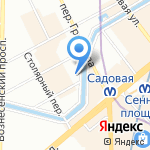 Дом Достоевского на карте Санкт-Петербурга