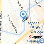 Грибоедов Хаус на карте Санкт-Петербурга