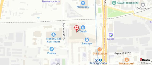 Карта расположения пункта доставки Санкт-Петербург Московский в городе Санкт-Петербург