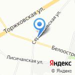 Цветочный на карте Санкт-Петербурга