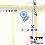 Мягкий стиль на карте Санкт-Петербурга