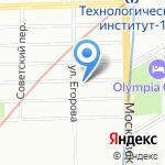 Муниципальный округ Измайловское на карте Санкт-Петербурга