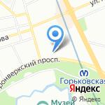 Ландыш на карте Санкт-Петербурга