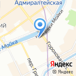 Столовая ложка на карте Санкт-Петербурга