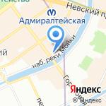 Связист на карте Санкт-Петербурга