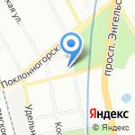 Апельсин на карте Санкт-Петербурга