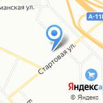 Пулковская таможня на карте Санкт-Петербурга