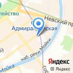 Ногам дорогу на карте Санкт-Петербурга