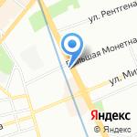 Парадиз на карте Санкт-Петербурга