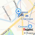Киоск по продаже орехов и сухофруктов на карте Санкт-Петербурга
