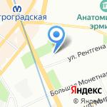 Петроградская на карте Санкт-Петербурга