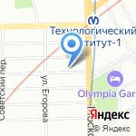 Ниса на карте Санкт-Петербурга
