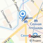Новгородский Бекон на карте Санкт-Петербурга