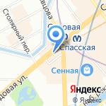 Super на карте Санкт-Петербурга