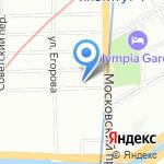 Rotas на карте Санкт-Петербурга