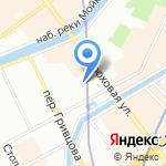 Эклер на карте Санкт-Петербурга