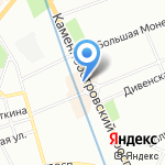 Игрис на карте Санкт-Петербурга