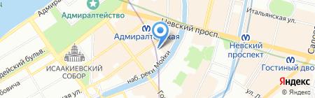 Пантэкс-1 на карте Санкт-Петербурга