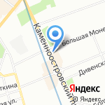 Сентябревъ на карте Санкт-Петербурга
