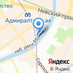 Терминал на карте Санкт-Петербурга