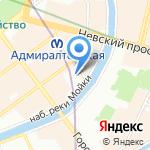Даймонд на карте Санкт-Петербурга