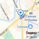 Киоск по продаже аксессуаров для мобильных устройств на карте Санкт-Петербурга