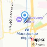 ТЕХЭКСПО на карте Санкт-Петербурга