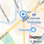 Caffe uno на карте Санкт-Петербурга