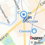 Магазин трикотажных изделий на карте Санкт-Петербурга