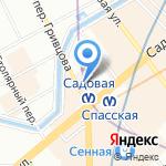 Унция на карте Санкт-Петербурга