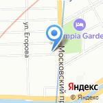 Галеон на карте Санкт-Петербурга