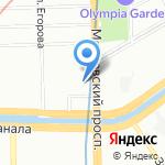 Consolidato на карте Санкт-Петербурга