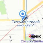 Мармариса на карте Санкт-Петербурга
